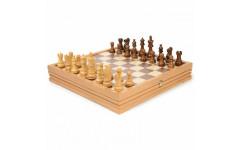 Шахматы + шашки деревянные