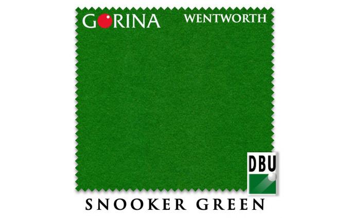Сукно Gorina Wentworth Fast Snooker 193см Snooker Green