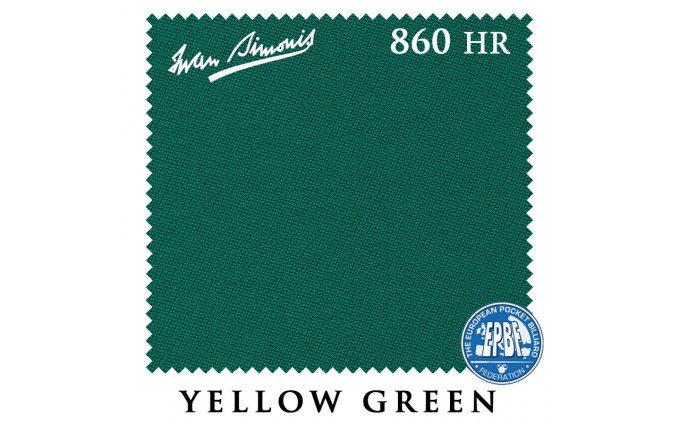 Сукно Iwan Simonis 860HR 198см Yellow Green