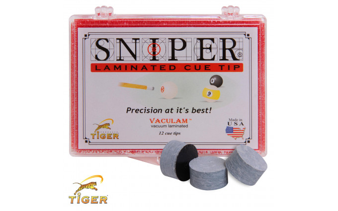 Наклейка для кия Tiger Sniper ø14мм Medium/Hard 1шт.