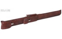 Тубус QK-S Tomahawk 1x1 коричневый аллигатор