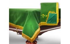 Чехол для б/стола 8-3 (зеленый с зеленой бахромой, без логотипа)