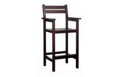 Кресло бильярдное из ясеня, цвет махагон