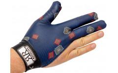 Перчатка для правой руки синяя с рисунком, Renzo Longoni, Renzline