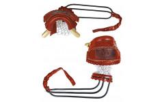 Комплект луз c выкатом, кожаное плетение, лен (68 мм)