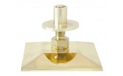 Опора регулируемая для бильярдного стола (пирамида, латунь D14 см, квадрат)